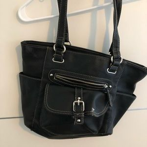 Black Avon Collection all leather tote
